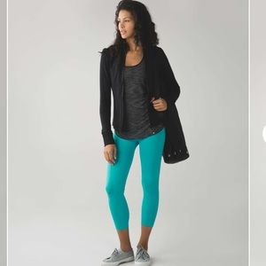 Lululemon Zone In Crop Peacock Blue High Rise 6